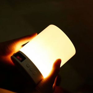 Rechargeable Touch Control LED Light and Bluetooth Speaker