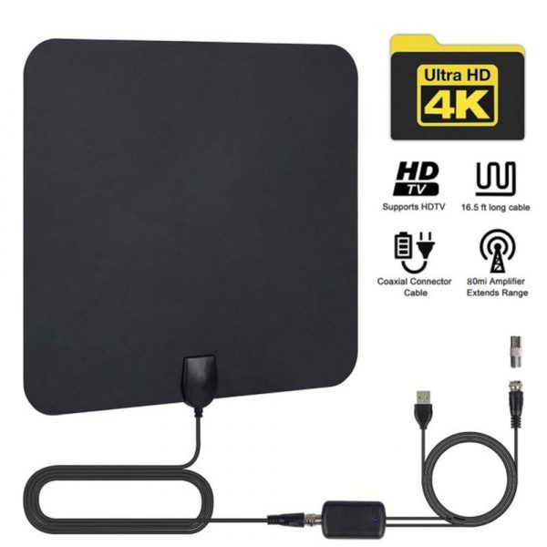 Digital VHF UHF TV Antenna with Amplifier for Home Use_0