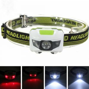 T16 Multi-functional 2+1 Headlight Protection Head-Mounted Flashlight Torch