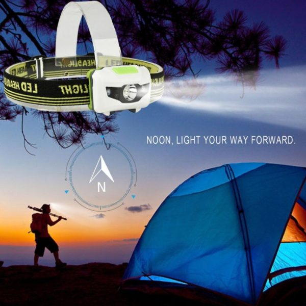T16 Multi-functional 2+1 Headlight Protection Head-Mounted Flashlight Torch_5