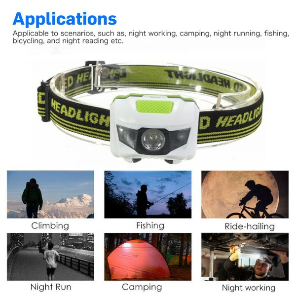 T16 Multi-functional 2+1 Headlight Protection Head-Mounted Flashlight Torch_9