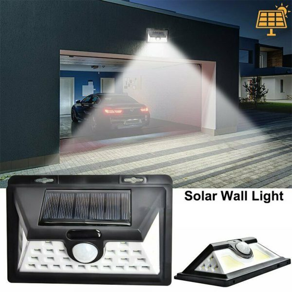 Solar Powered 32LED Body Induction Motion Sensor Outdoor Wall Light_4