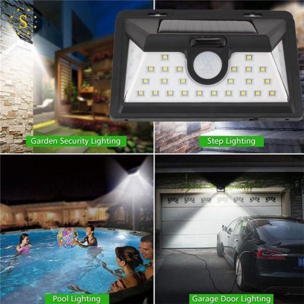 Solar Powered 32LED Body Induction Motion Sensor Outdoor Wall Light_6
