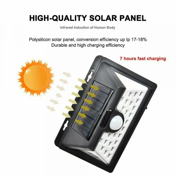 Solar Powered 32LED Body Induction Motion Sensor Outdoor Wall Light_10