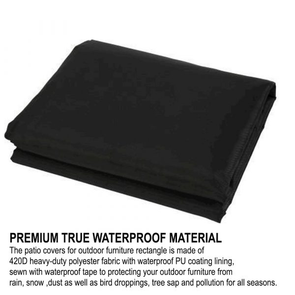 Waterproof Polyester Outdoor Furniture Protective Cover in 5 Sizes_8