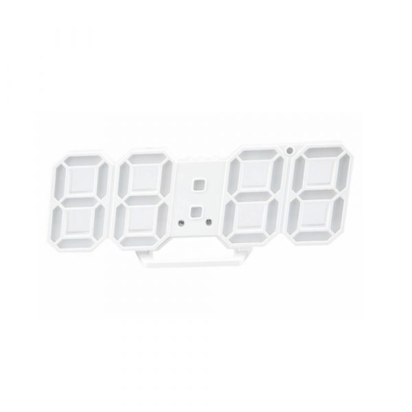Digital Modern Plugged-in 3D LED Wall and Alarm Clock_0