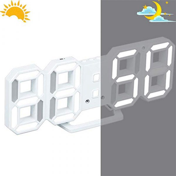 Digital Modern Plugged-in 3D LED Wall and Alarm Clock_5