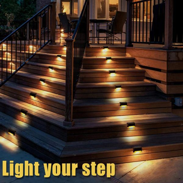 Solar Powered LED Lights for Step and Stairs Railing_7