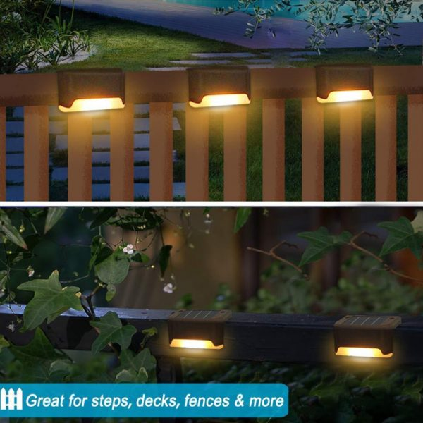 Solar Powered LED Lights for Step and Stairs Railing_8