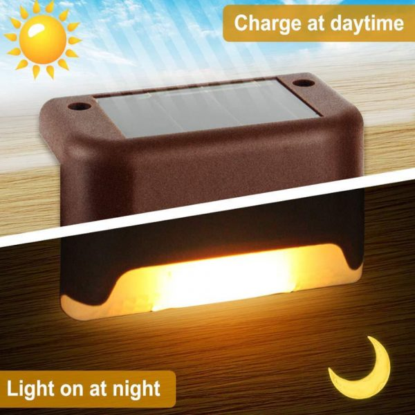 Solar Powered LED Lights for Step and Stairs Railing_9