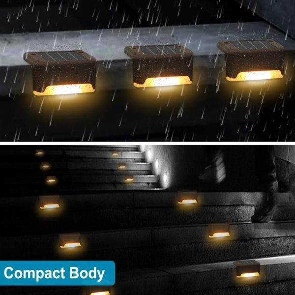 Solar Powered LED Lights for Step and Stairs Railing_10
