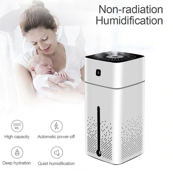 Large Capacity Air Humidifier Essential Oil Diffuser with LED_7