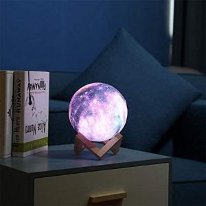 3D Printed Moon Galaxy Star Night Lamp and Room Light Décor