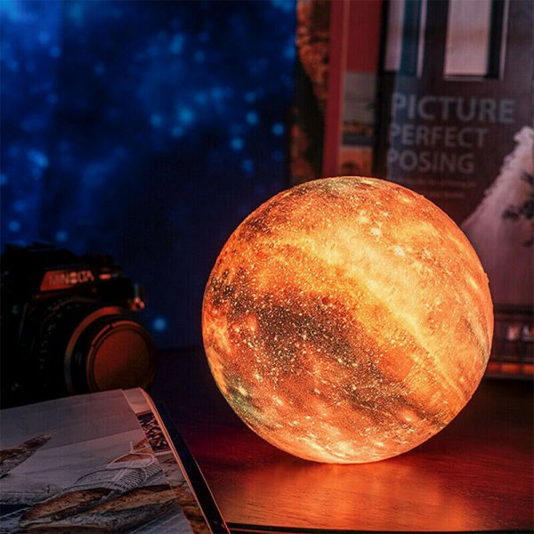 3D Printed Moon Galaxy Star Night Lamp and Room Light Décor_2
