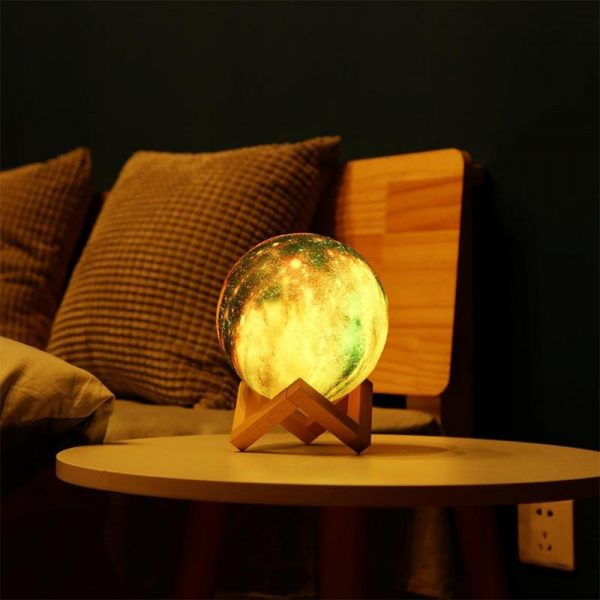 3D Printed Moon Galaxy Star Night Lamp and Room Light Décor_3