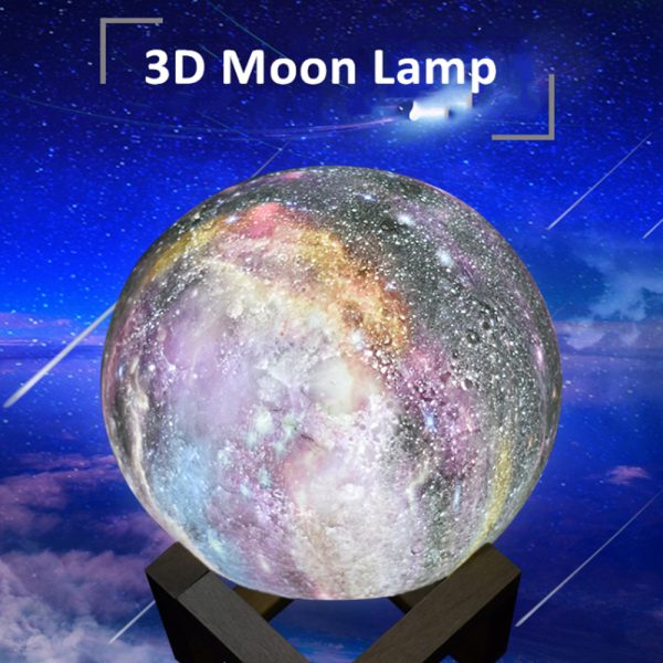3D Printed Moon Galaxy Star Night Lamp and Room Light Décor_8