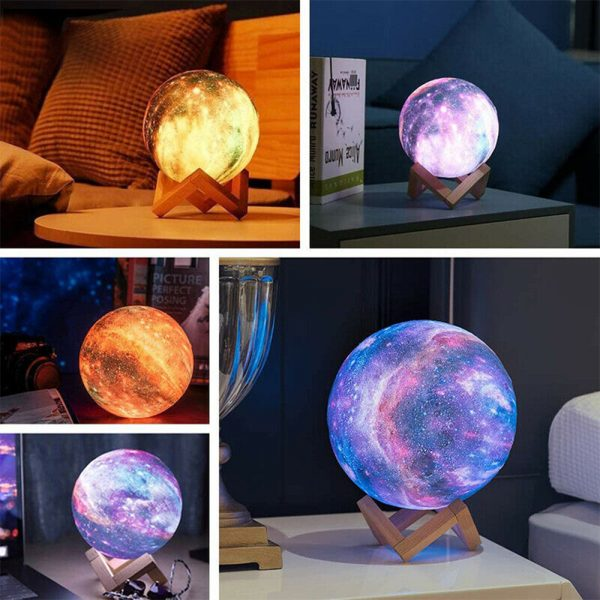 3D Printed Moon Galaxy Star Night Lamp and Room Light Décor_10