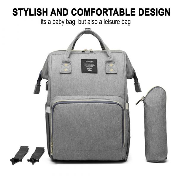 Large Capacity Maternity Travel Backpack with USB Charging Port_10