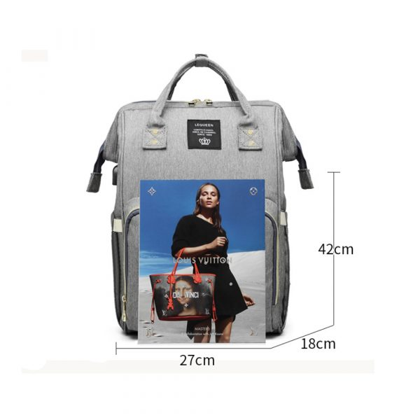 Large Capacity Maternity Travel Backpack with USB Charging Port_11