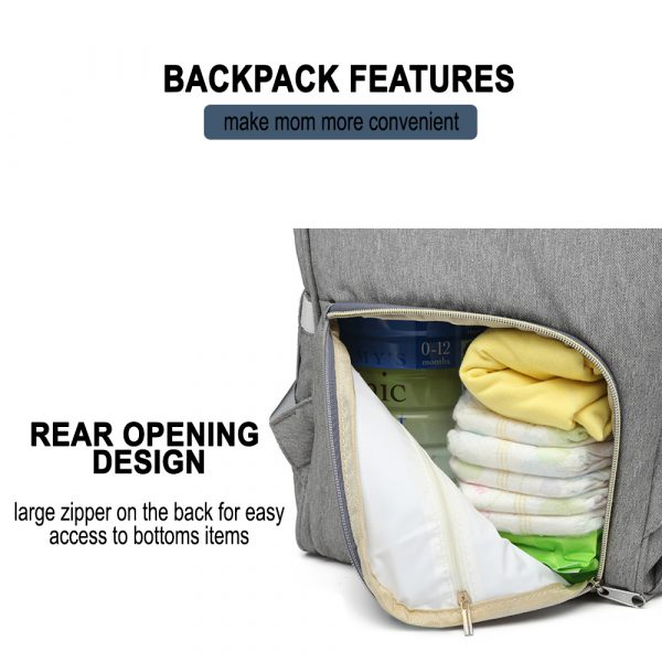 Large Capacity Maternity Travel Backpack with USB Charging Port_12