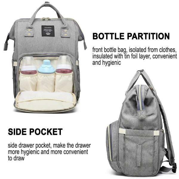 Large Capacity Maternity Travel Backpack with USB Charging Port_13