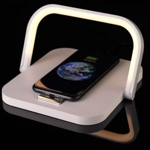 2-in-1 Folding Wireless Charger and Desktop LED Lamp with Eye Protection