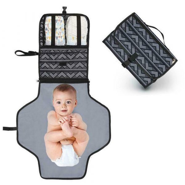 Portable Diaper Changing Pad Nappy Changing Detachable Clutch_0