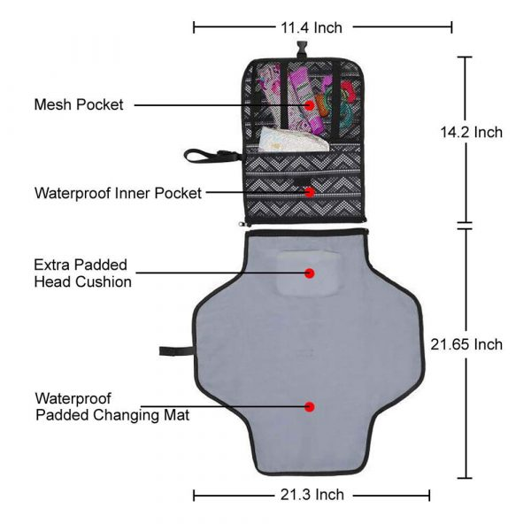 Portable Diaper Changing Pad Nappy Changing Detachable Clutch_4