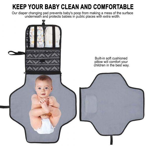 Portable Diaper Changing Pad Nappy Changing Detachable Clutch_5