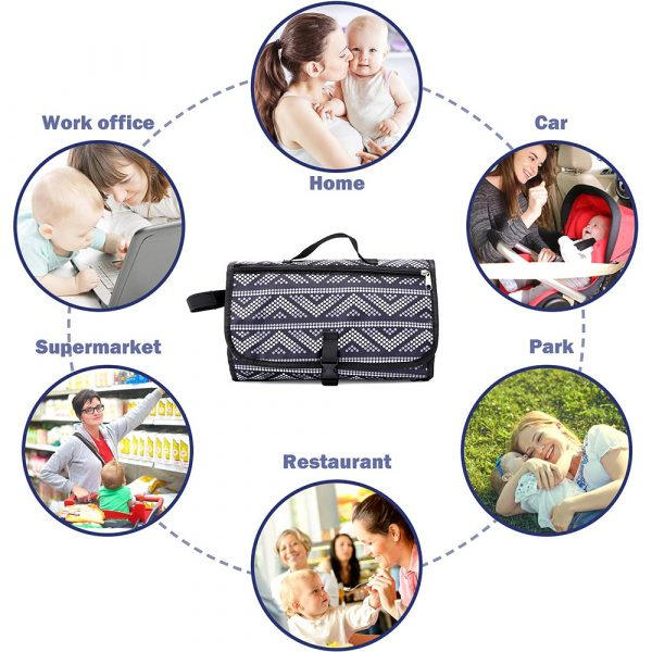 Portable Diaper Changing Pad Nappy Changing Detachable Clutch_7