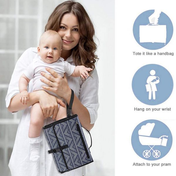 Portable Diaper Changing Pad Nappy Changing Detachable Clutch_8