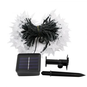 Solar-Powered LED 5-point Star String Lights Outdoor Decorative Lights