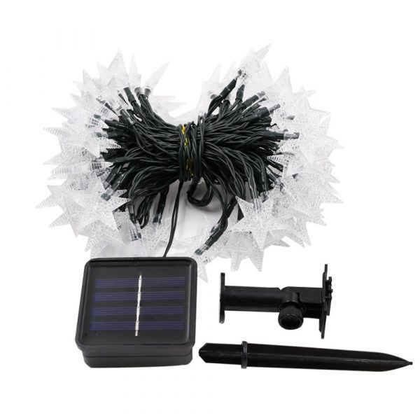 Solar-Powered LED 5-point Star String Lights Outdoor Decorative Lights_1
