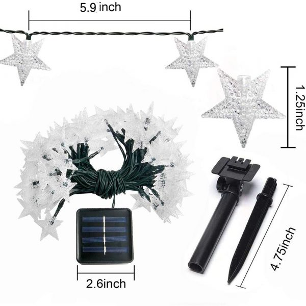 Solar-Powered LED 5-point Star String Lights Outdoor Decorative Lights_22