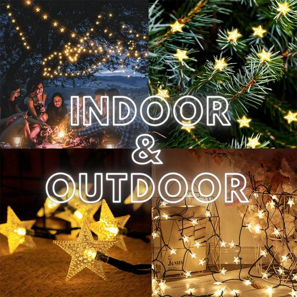 Solar-Powered LED 5-point Star String Lights Outdoor Decorative Lights_23