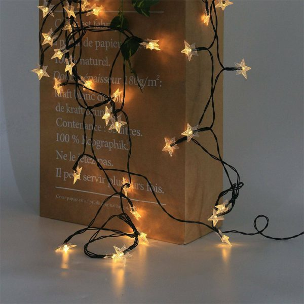 Solar-Powered LED 5-point Star String Lights Outdoor Decorative Lights_25