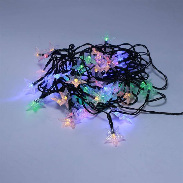 Solar-Powered LED 5-point Star String Lights Outdoor Decorative Lights_27