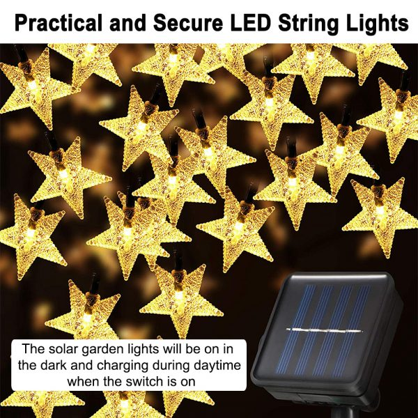 Solar-Powered LED 5-point Star String Lights Outdoor Decorative Lights_11