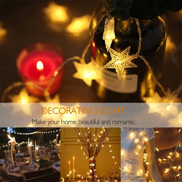 Solar-Powered LED 5-point Star String Lights Outdoor Decorative Lights_12