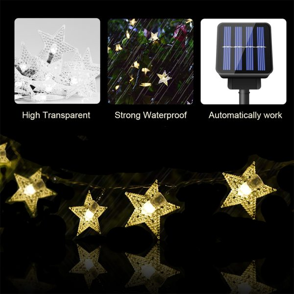 Solar-Powered LED 5-point Star String Lights Outdoor Decorative Lights_18
