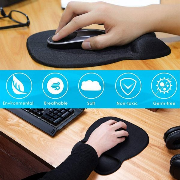 Ergonomic Mouse Pad with Wrist Support Mouse Pad with Memory Foam Rest_3