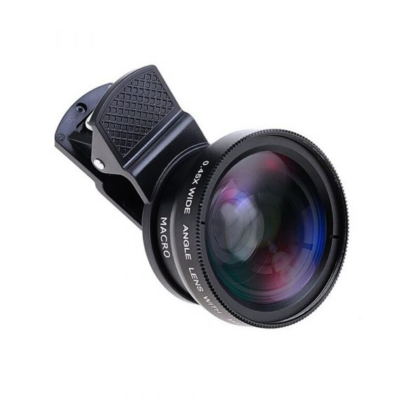 Universal 2-in-1 Wide Angle and Macro Lens Mobile Phone Clip HD Camera Lens_0