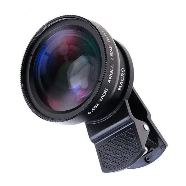 Universal 2-in-1 Wide Angle and Macro Lens Mobile Phone Clip HD Camera Lens_1