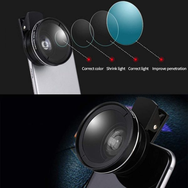 Universal 2-in-1 Wide Angle and Macro Lens Mobile Phone Clip HD Camera Lens_7