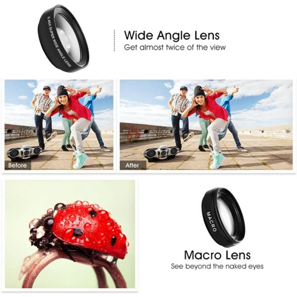 Universal 2-in-1 Wide Angle and Macro Lens Mobile Phone Clip HD Camera Lens_8