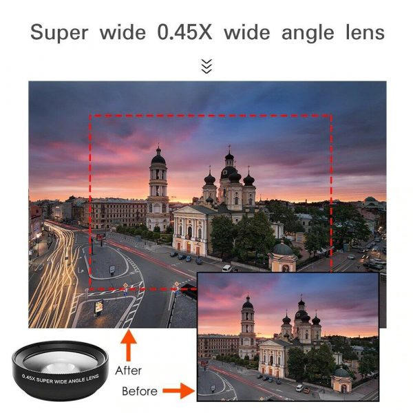 Universal 2-in-1 Wide Angle and Macro Lens Mobile Phone Clip HD Camera Lens_10