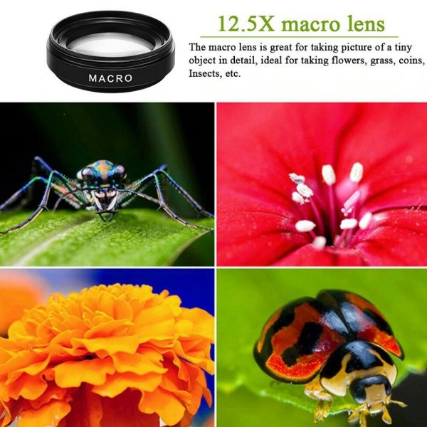 Universal 2-in-1 Wide Angle and Macro Lens Mobile Phone Clip HD Camera Lens_12