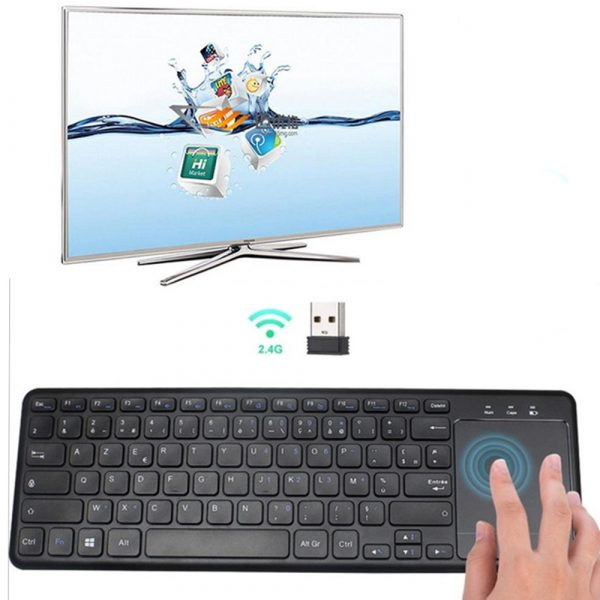 78 Keys 2.4G Wireless Mini Touch Keyboard with Touchpad and Mouse Pad_2