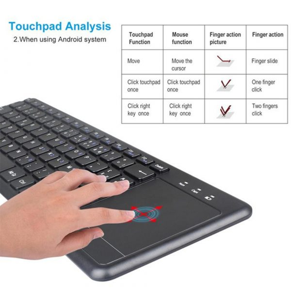78 Keys 2.4G Wireless Mini Touch Keyboard with Touchpad and Mouse Pad_12