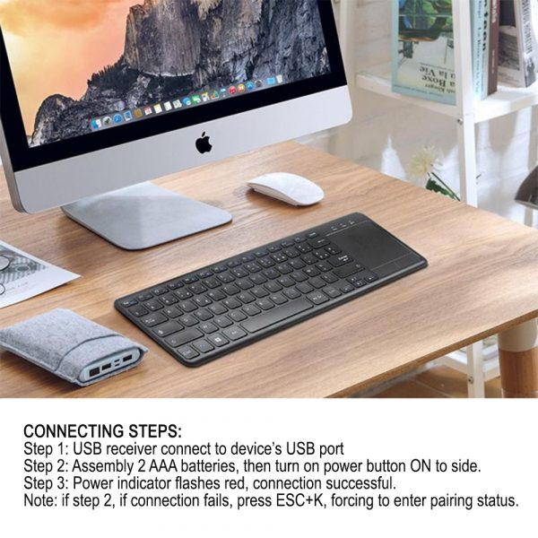 78 Keys 2.4G Wireless Mini Touch Keyboard with Touchpad and Mouse Pad_10